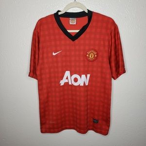 Manchester United AON Nike Dri Fit red Home Jersey